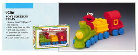 Illco 1992 baby toys soft squeeze train