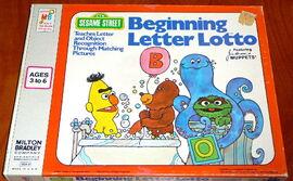 Milton bradley 1975 beginning letter lotto