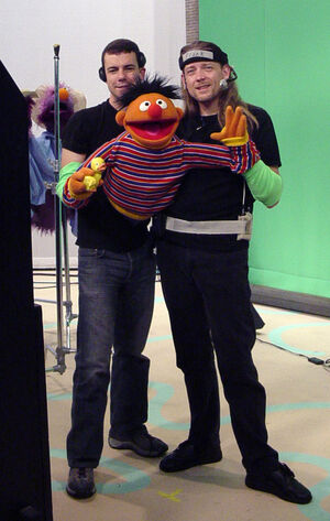 Steve Whitmire and Paul McGinnis performing Ernie on Sesame Street