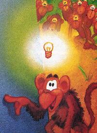 Annual ape light bulb