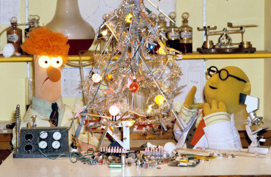 File:Bunsen Beaker xmas tree lab 1981.jpg