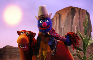 Marshal Grover and Fred the Wonder Horse in Season 40