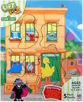 Milton bradley sesame puzzle lift & look 123 let's count
