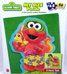 Mattel 1999 sesame elmo my size jigsaw puzzle