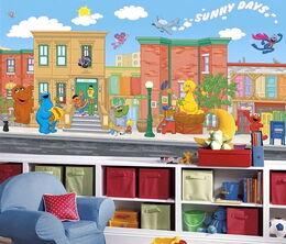 Roommates 2010 sesame street wallpaper mural