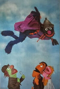 Super Grover framed poster