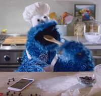 Cookie Monster Siri Commercial Spoon