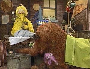 Kermit in Big Bird's Story Time