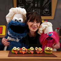 Zooey Deschanel on Sesame Street