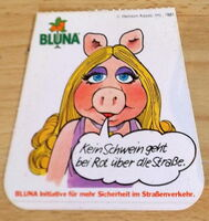 Bluna orange soda 1981 german stickers 3b