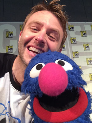 Chris Hardwick and Grover