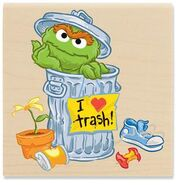 Stampabilities oscar the grouch