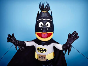 Bert as Batman