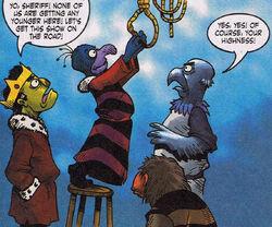 Hanging Muppet Robin Hood
