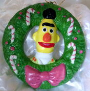 Newcor 1988 christmas ornament wreath bert 2