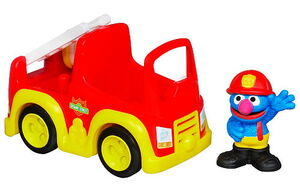 Grover's fire truck hasbro 2