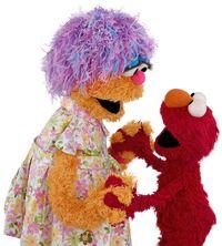 Mae and Elmo