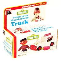 Sesame Street rag dolls and playsets#People in the Neighborhood vehicles, 1976