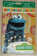 Drawing board 1980s cookie monster party invitations