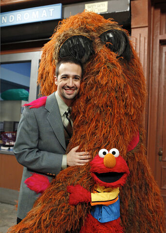 File:Lin-Manuel Miranda with Snuffy and Elmo.jpg