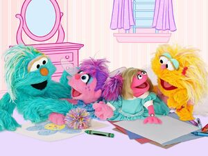 Sesame girls coloring