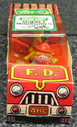 Child guidance muppet miniatures sesame pvc fire truck 1