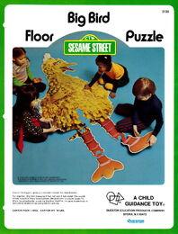 Child guidance questor 1973 big bird floor puzzle