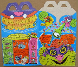 Mcdonalds 1994 muppet workshop happy meal box premium 2