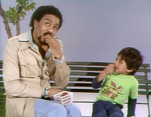 Richard Pryor shares Strawberries on Sesame Street