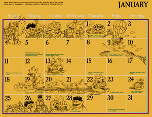 1976 sesame calendar 01 january 2