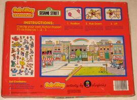 Colorforms 1986 rub n' play transfer set 2