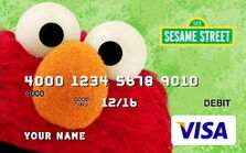Sesame debit card 05 elmo