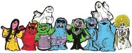 Count's Colorforms Castle characters j
