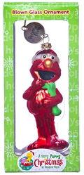Sesame furry christmas ornament
