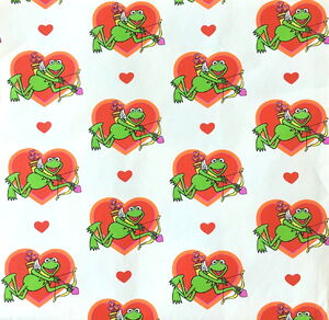 Hallmark kermit valentine wrapping paper 1