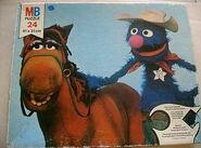 Milton bradley sesame puzzle 1976 marshal grover