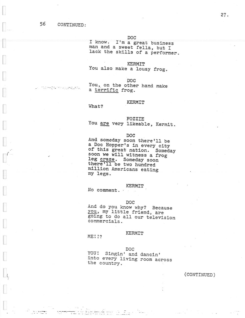 image muppet movie script 027 jpg muppet wiki fandom powered