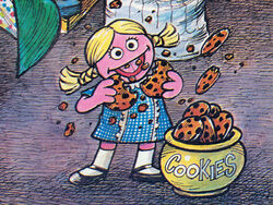 April Fools SSmag76 - Betty Lou as Cookie Monster