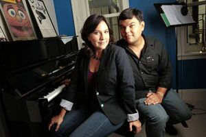 Kristen Anderson and Bobby Lopez
