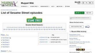 Creating a Sesame Street episode guide