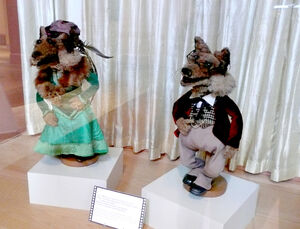 Foxes on display