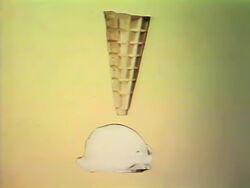 Ice cream top of cone