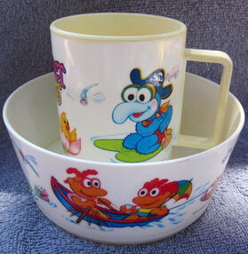 Deka 1986 muppet babies bowl and cup 4