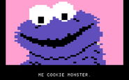 Ernie's quiz cookie monster