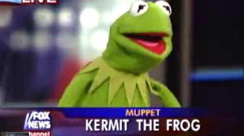 Kermit on the news