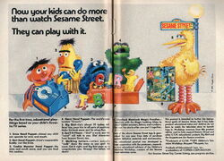 Topper educational walkers sesame toys ad