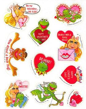 Hallmark 1981 valentine stickers 2