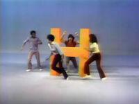 Cast fractured letter H