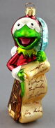 Christopher radko 1997 christmas kermit checking it twice