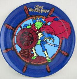 Selandia 1996 kermit melmac muppet treasure island plate
